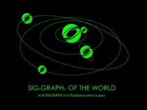 SIGGRAPH 2009 T-shirt Design